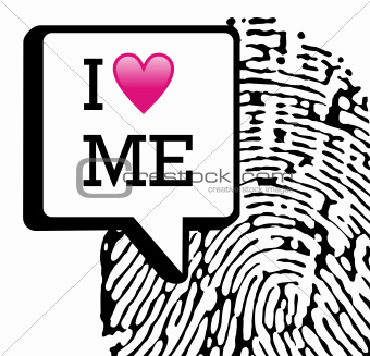 I love me illustration background