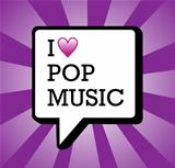 I love pop music background illustration