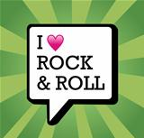 I love Rock and Roll background illustration