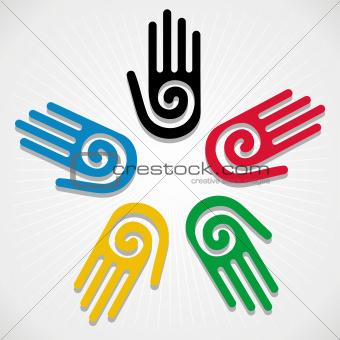 Olympics Games 2012 hands