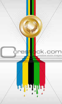 Olympic games gold medal banner