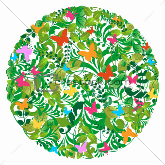 Green forest spring and summer pattern
