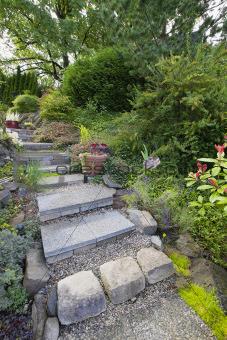 Tile Garden Stair Steps