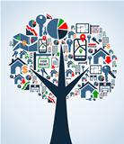 Property service icons tree