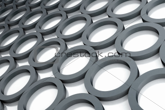 Abstract dark grey circles on a white background