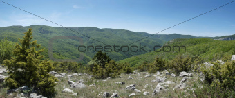 beautiful mountain scenery in Crimea canyon