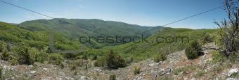 beautiful mountain scenery in Crimea canyon
