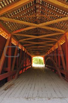 Hillsdale Covered Bridge Interior