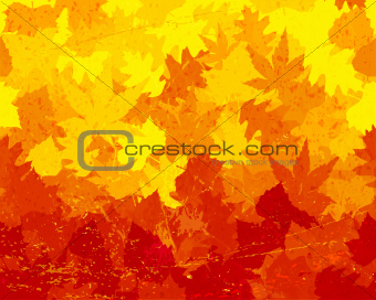 Distressed autumn leaves wallpaper