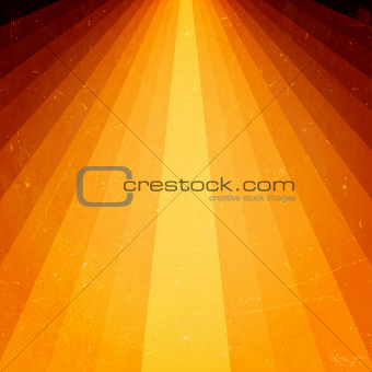 Golden light beams with grunge elements