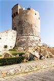 Medieval Tower In Marciana, Elba Island