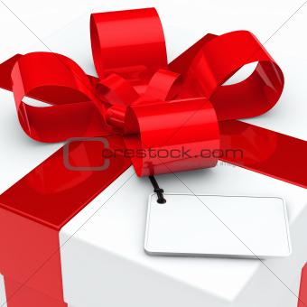 gift box red ribbon