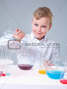 Cheerful scientist