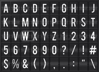 Airport alphabet flip board