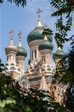 domes of russian orthodox church in Nice