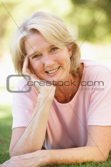 Portrait Of Senior Woman In Park
