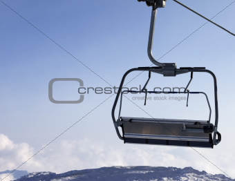 Ropeway. Close-up view.