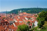 czech republic prague - st. nicolas church and rooftops of mala strana