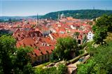 czech republic prague - st. nicolas church and rooftops of mala strana