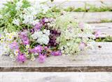 Bunch of Flowers in Rustic Style