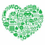 Eco heart background -  green ecology