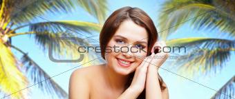 Among palms
