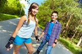 Teen skaters
