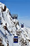 Gondola cable car in Alps