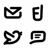 Minimalistic contact icons