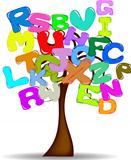 Tree with colored letters