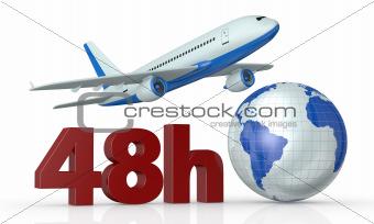 fast airplane transport service