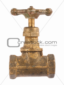 Old brass valve