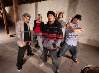 Five Cool Break Dancers