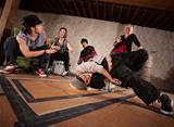 Urban Dancers Practicing