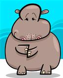 Hippo or Hippopotamus Cartoon