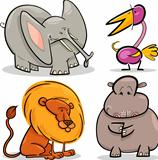 cute cartoon african animals set