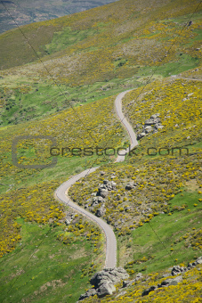 small rural road at Gredos mountains