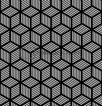 Seamless geometric texture in op art design.