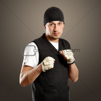 Man In Boxing Position