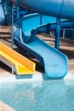 waterslide at holiday resort