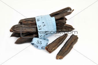 carob and measure isolated