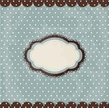 Vintage polka dot design, brown frame