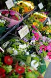 Bouquets at flower market