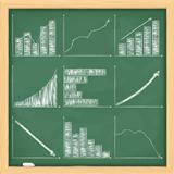 Graphs on blackboard