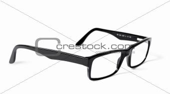 Classic black eye glasses isolated