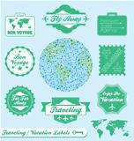 Vector Set: Traveling Labels