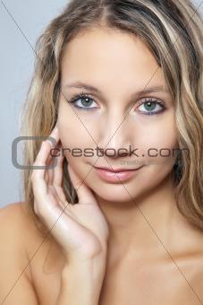 Beauty portrait of of a woman