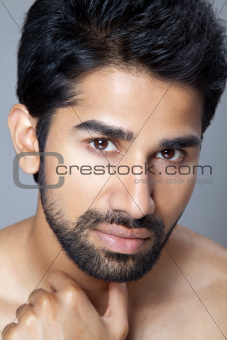 Beauty portrait of young man