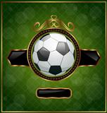 Football background with the ball
