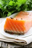 elite cultivar of red fish salted salmon